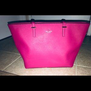 KATE SPADE NY HOT PINK Leather Tote Handbag